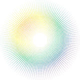 Sol do arco-íris ilustração stock