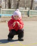 Sol do desenho da criança no asfalto Fotografia de Stock Royalty Free