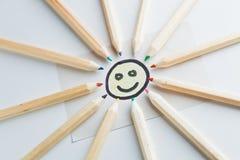 Sol do lápis Imagens de Stock Royalty Free