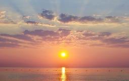 Sol do mar da água de Llandscape Foto de Stock