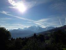 Sol do Monte Branco França imagem de stock royalty free