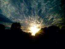 Sol do país do monte Fotos de Stock Royalty Free