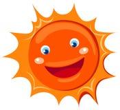 sol dos desenhos animados Foto de Stock