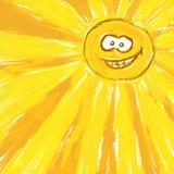 Sol dos desenhos animados Imagem de Stock