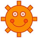 Sol dos desenhos animados Fotografia de Stock