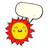sol dos desenhos animados com bolha do discurso Imagem de Stock