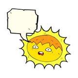 sol dos desenhos animados com bolha do discurso Fotos de Stock Royalty Free