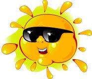 Sol dos desenhos animados no óculos de sol Imagem de Stock