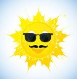 Sol dos desenhos animados nos óculos de sol Imagens de Stock