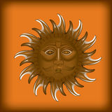 Sol dourado Imagem de Stock Royalty Free