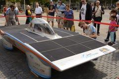 Sol- driven bil Antwerp Arkivfoto