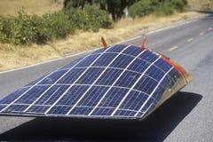 Sol- driven bil för sol- väderkorn, CA Arkivfoto