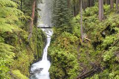 Sol Duc Falls. At Olympic National Park, Washington State Stock Image