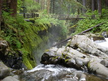 Sol Duc Falls. Is the waterfall in Olypmpic National Park Stock Photos