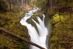 Sol Duc falls, Olympic national park. WA US Royalty Free Stock Image