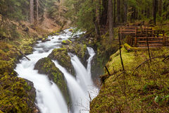 Sol Duc falls, Olympic national park Stock Photos
