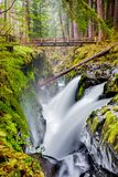 Sol Duc Falls, Olympic National Park, Washington State, USA stock photo
