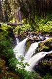 Sol Duc Falls in Olympic National Park. Waterfall at Sol Duc Falls in the Olympic National Park of Washington State Stock Photo