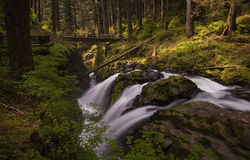 Sol Duc Falls. Is one of the most beautiful natural attractions in Olympic National Park Royalty Free Stock Photo