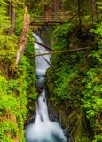 Sol Duc Falls, Washington State Lizenzfreies Stockbild