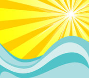 Sol e água quentes Ilustração Stock