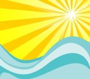 Sol e água quentes Imagens de Stock Royalty Free
