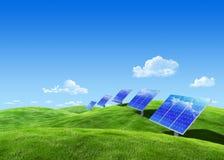 sol- ecoenergi Arkivbilder