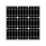 sol- elektrisk panel Royaltyfri Foto