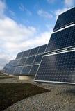 sol- elektriska paneler royaltyfria foton
