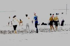 Sol en la arena de la playa 免版税库存照片