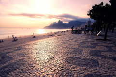 Sol en la playa Imagen de archivo