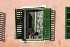 Sol en la ventana Imágenes de archivo libres de regalías