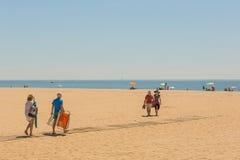 Sol en las playas de Costa de Luz, Ayamonte, España Imagenes de archivo