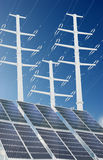 sol- energi fotografering för bildbyråer