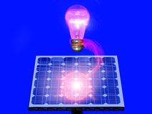 sol- energi 3 Arkivfoto