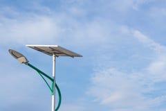 Sol- energi och himmel Fotografering för Bildbyråer