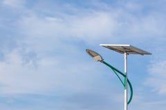Sol- energi och himmel Royaltyfri Foto