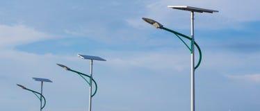 Sol- energi och himmel Arkivfoton
