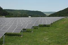 Sol- energi, solpaneler, renewables royaltyfria foton