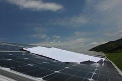 Sol- energi, solpaneler, renewables arkivbilder