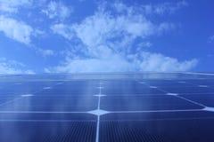 Sol- energi, solpaneler, renewables royaltyfria bilder
