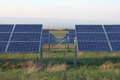 Sol- energi, solpaneler, renewables, PV-enheter Arkivfoton