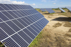 sol- energifält Arkivbilder