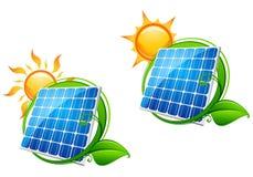 sol- energipanel Arkivbilder
