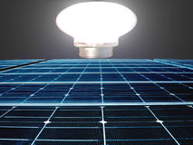 sol- energipanel fotografering för bildbyråer