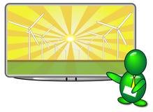 sol- energipresentation Fotografering för Bildbyråer