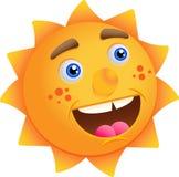 Sol engraçado dos desenhos animados Fotografia de Stock Royalty Free