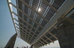 sol- enorm panel Arkivfoto