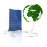 sol- för grön panel för energi förnybart Arkivbilder