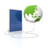 sol- för grön panel för energi förnybart Royaltyfri Foto